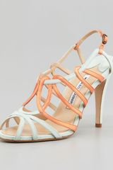 Manolo Blahnik Porzio Two-tone Leather Sandal - Lyst