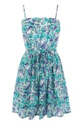 Oasis Fern Print Fit and Flare Sundress