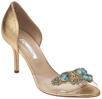 Oscar de la Renta Evening Open Pump - Lyst