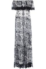 Philipp Plein Off Shoulder Printed Gown - Lyst