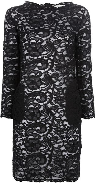 Pierre Balmain Lace Shift Dress - Lyst