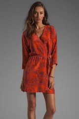 Rory Beca Lokoya Wrap Dress in Sangre - Lyst