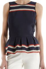 Sea Banded Stripe Peplum Top - Lyst