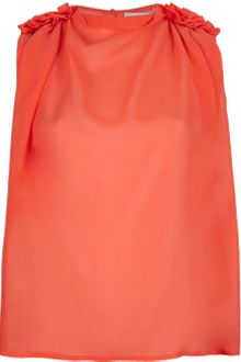 See By Chloé Ruffle Detail Tank Top - Lyst