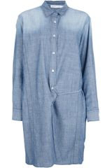See By Chloé Denim Shirt Dress - Lyst
