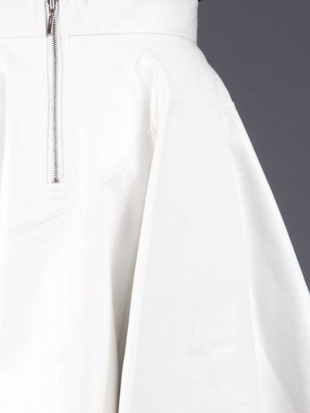 timo weiland white leather skirt in white lyst