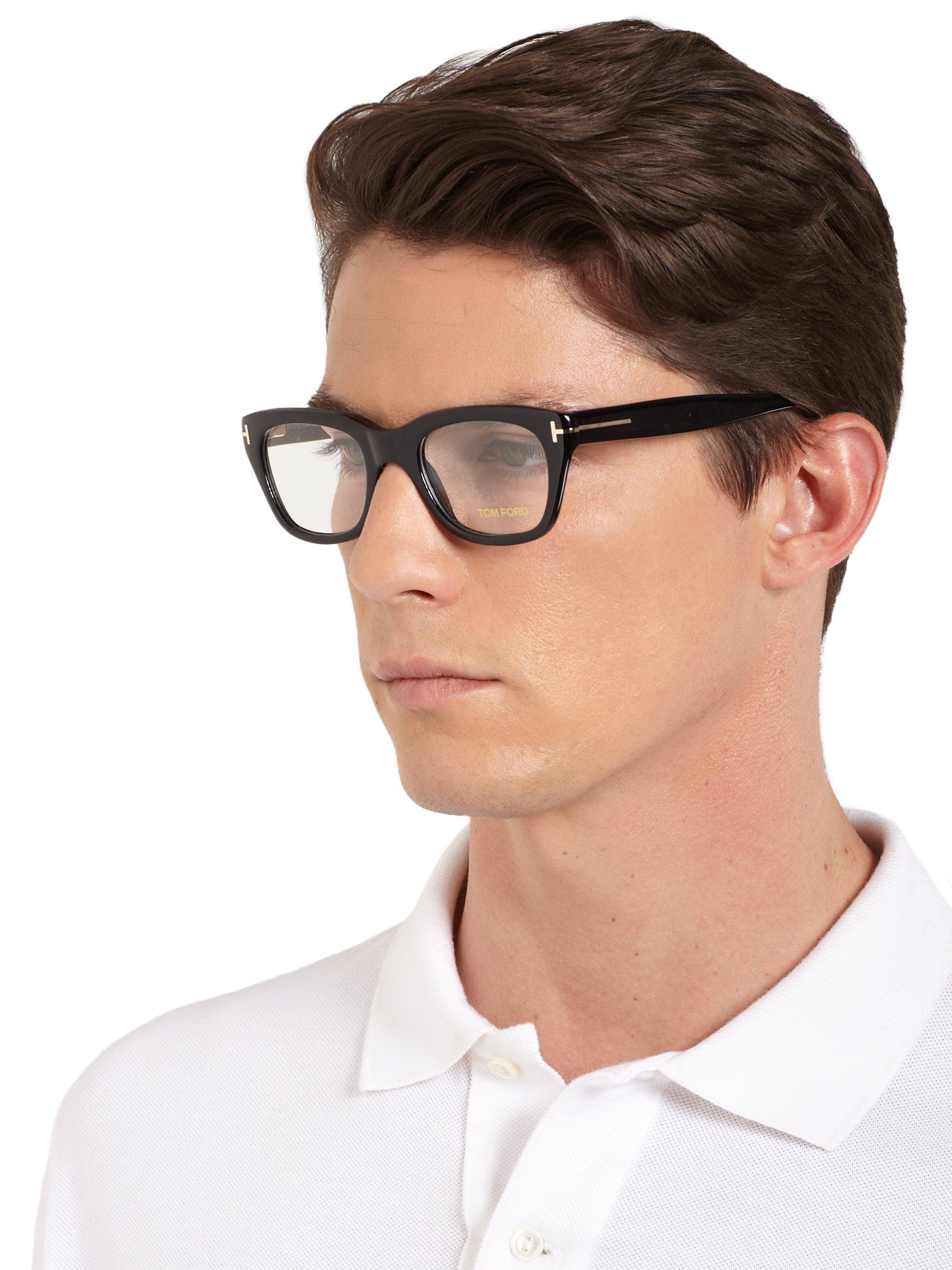 c478a14045c Tom Ford 5178 Square Optical Frames in Black for Men - Lyst
