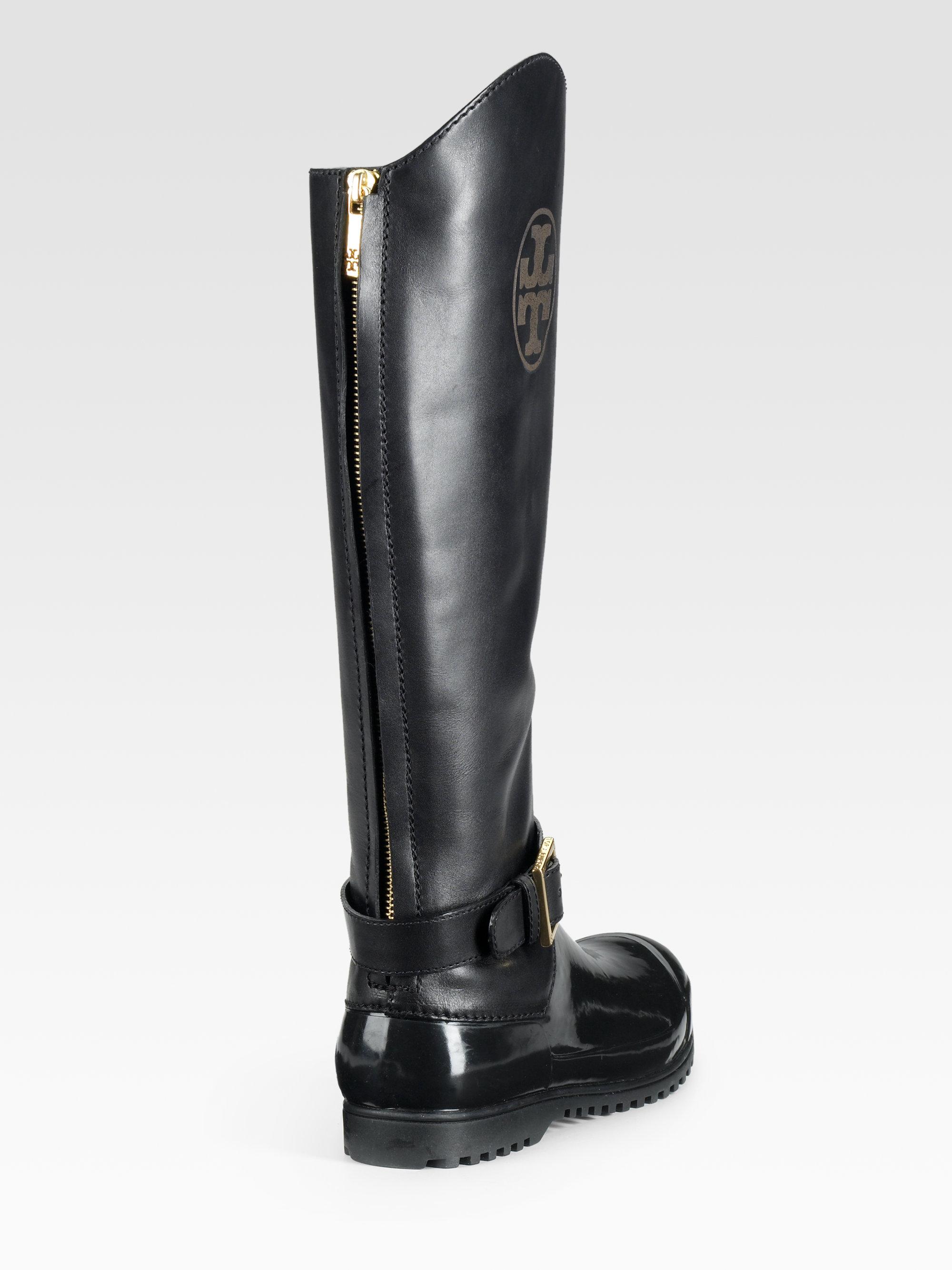 684215170f03f ... cheapest lyst tory burch colson rain boots in black 9f056 8e463