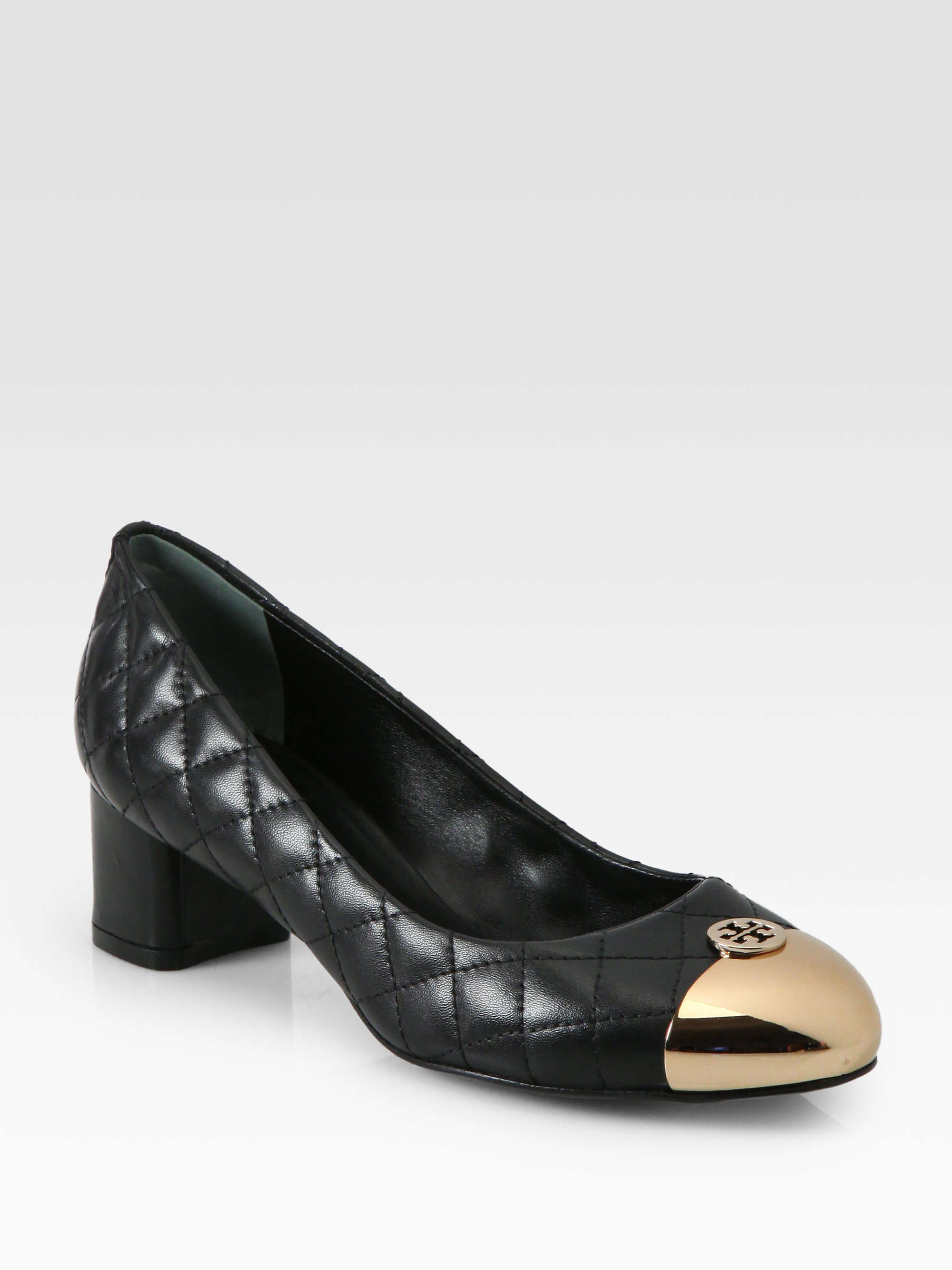 d4285aa47761 Lyst - Tory Burch Kaitlin Quilted Leather Pumps in Black