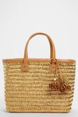 Tory Burch Metallic Straw Tote Large