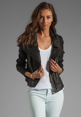 Vince Shawl Collar Leather Jacket - Lyst