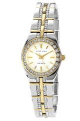 Anne Klein Two Tone Swarovski Crystal Link Bracelet Watch - Lyst