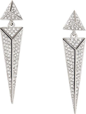 BCBGMAXAZRIA Pave Pyramid Earrings - Lyst