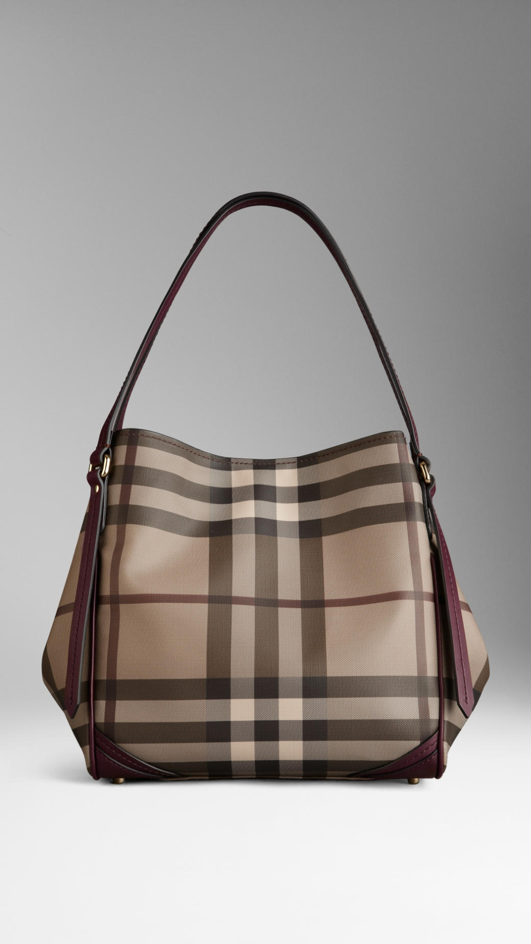 acb8fed7fa29 Keeping Burberry Small Bags   Lyst burberry small smoked check saddlestitch tote  bag