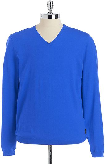 Calvin Klein Slim Fit Pullover V-neck Sweater - Lyst