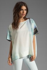 Diane Von Furstenberg New Hanky Top in Ethereal - Lyst