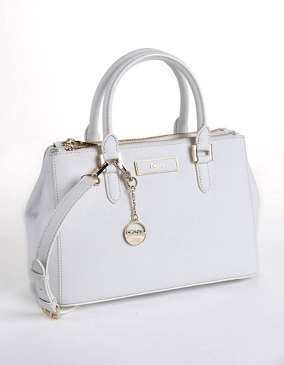 Dkny Leather Satchel Bag in White | Lyst