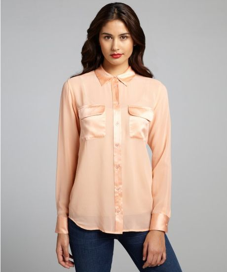 Long Peach Blouse 78