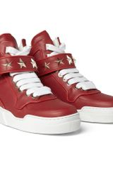 Givenchy Starembellished Leather High Top Sneakers - Lyst