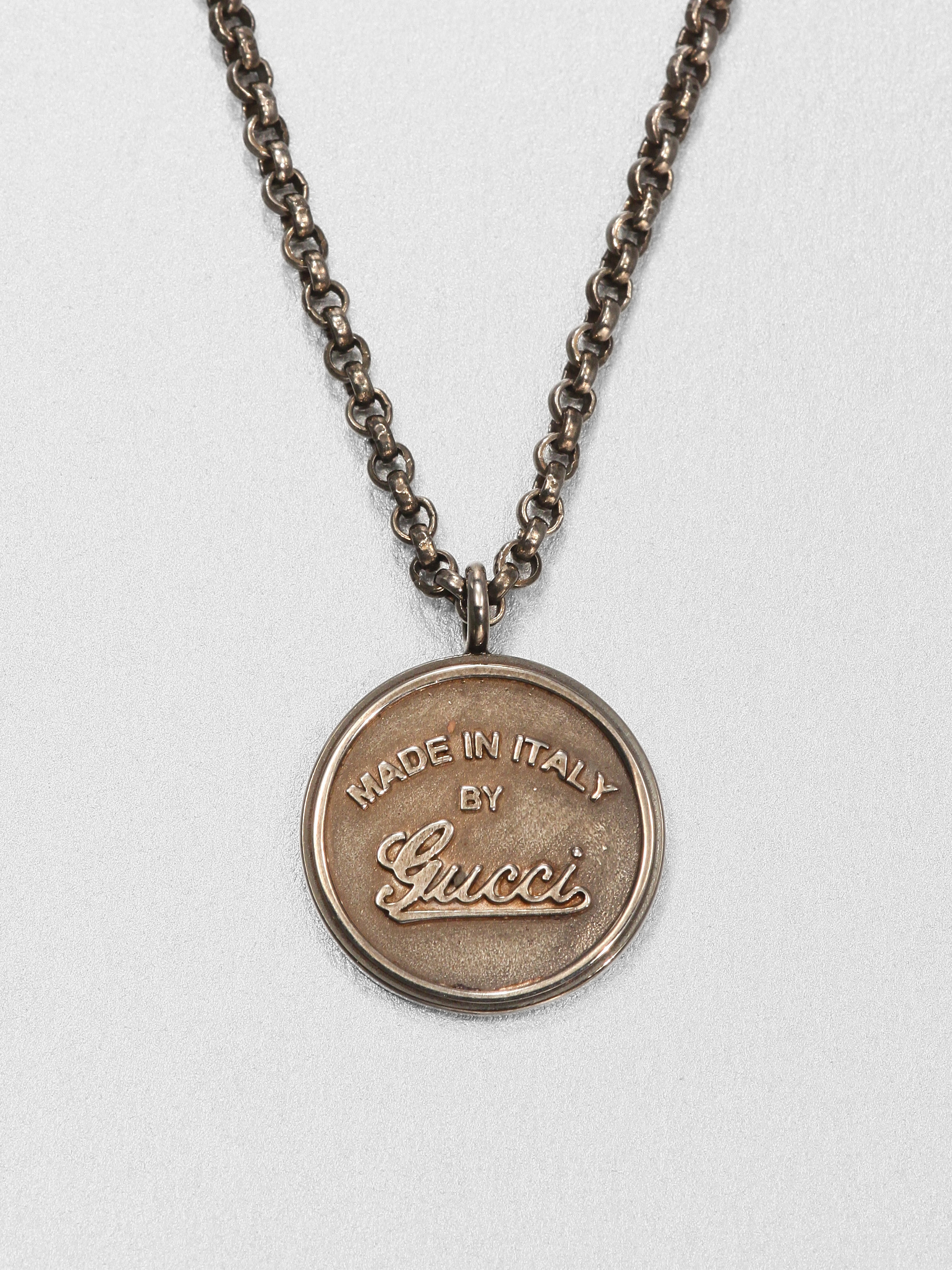 Gucci Gg Craft Necklace In Silver For Men Sterling Silver