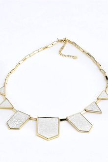 House Of Harlow Geometric Stone Bib Necklace - Lyst
