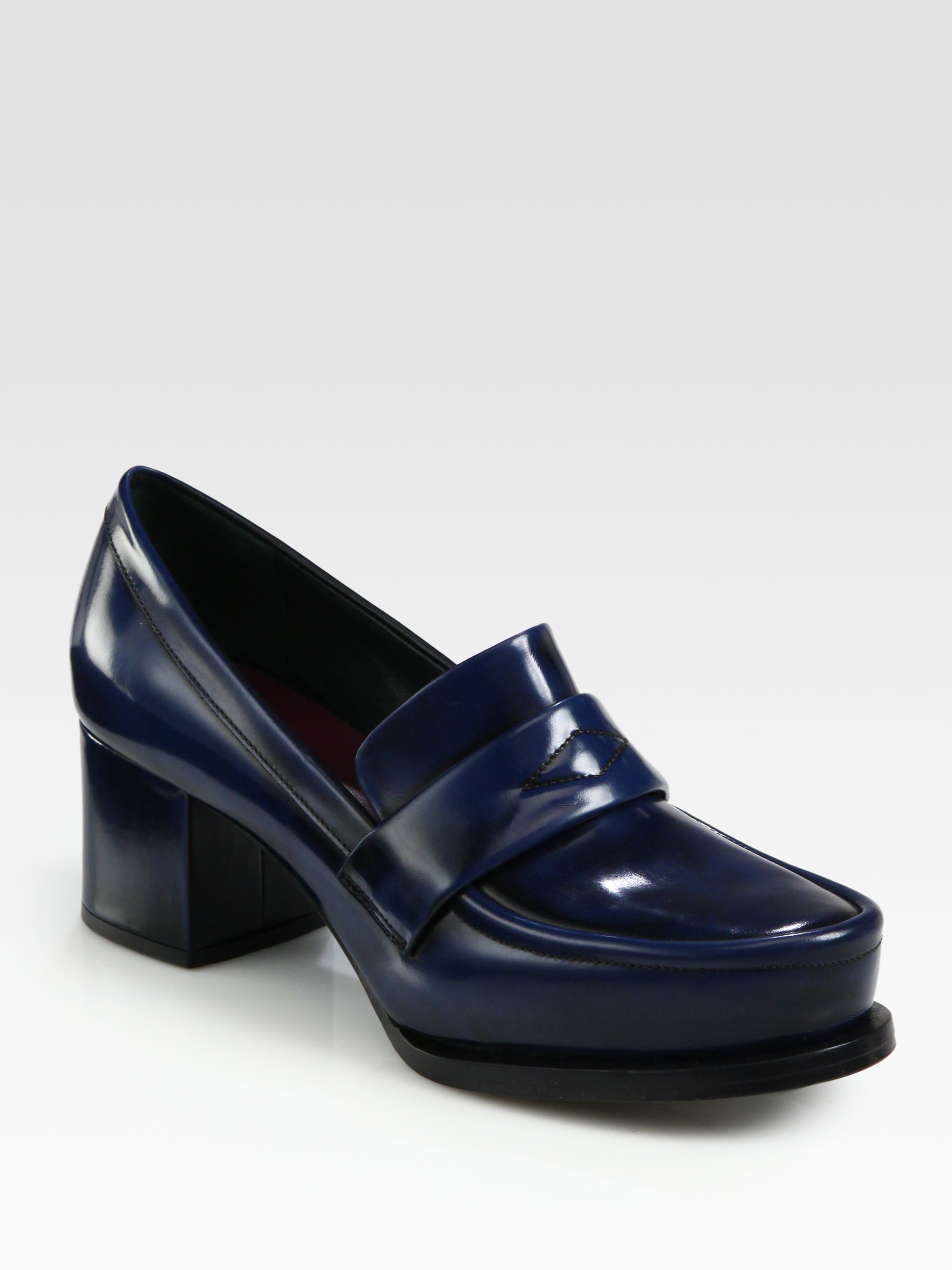 Jil Sander Navy Leather Loafer Pumps sale finishline cheap sale fashionable cheap price fake factory outlet cheap price 5E4nk