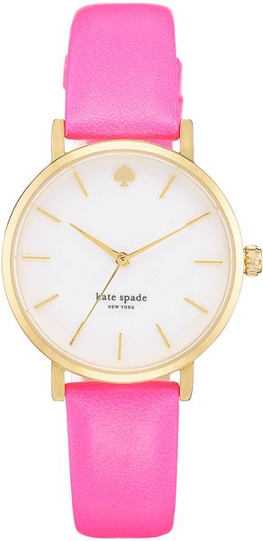 Kate Spade Ladiesâ Goldplated Leather Watch - Lyst