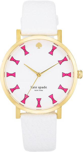 Kate Spade Ladies Goldplated Leather Watch - Lyst
