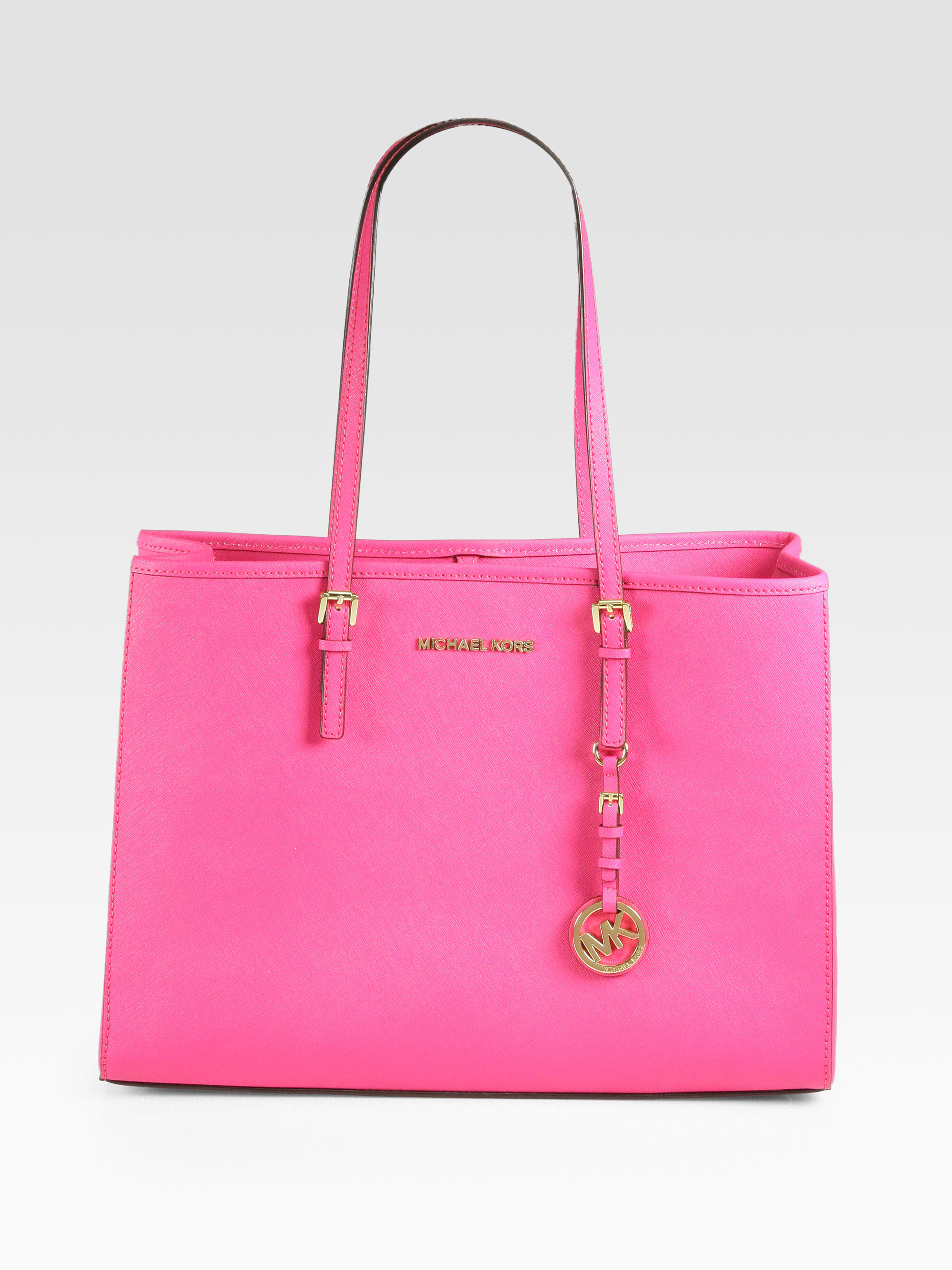 Lyst Michael Michael Kors Large Easttowest Tote Bag In Pink