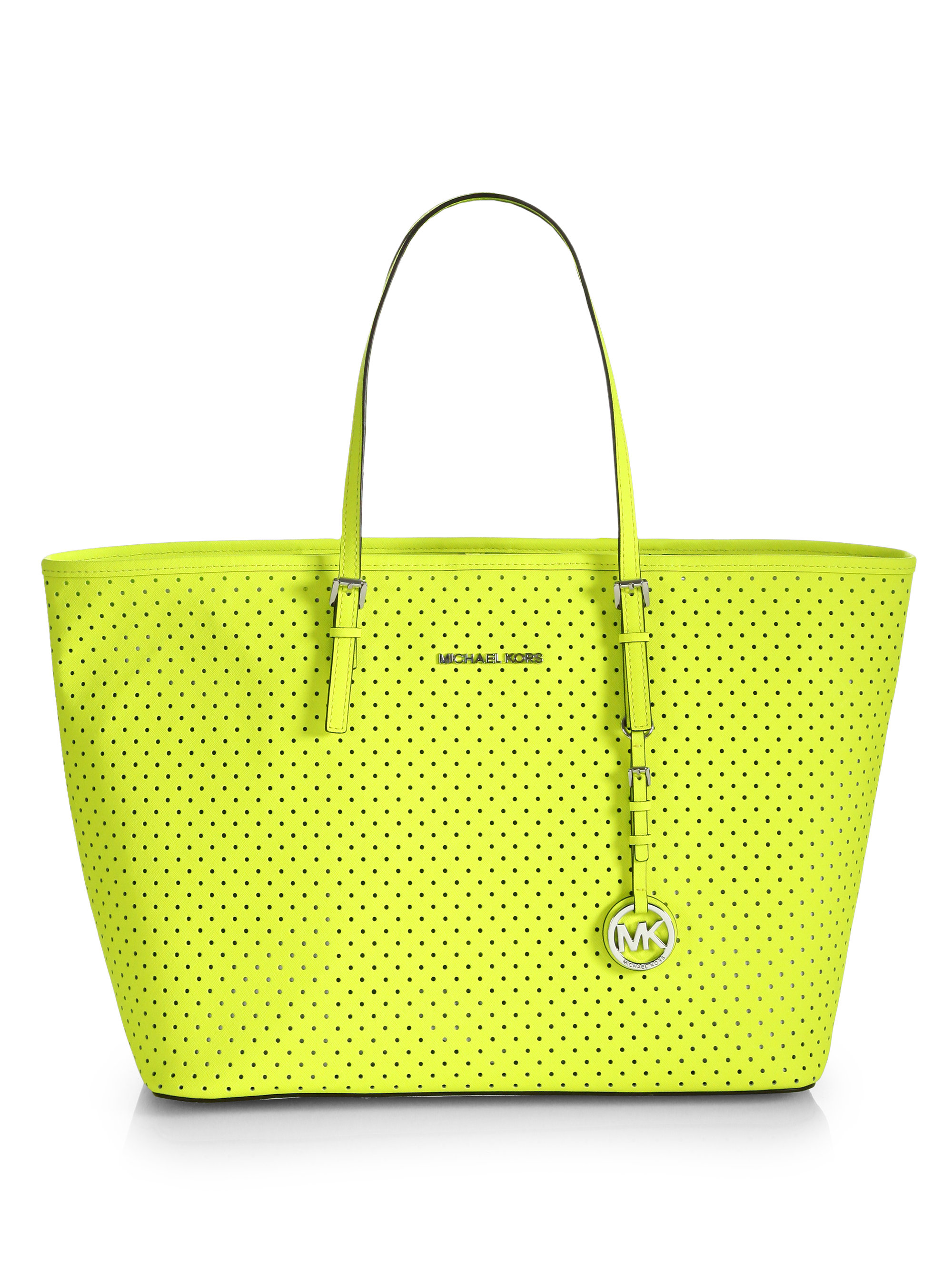 bf0630f08bc8 ... sweden lyst michael michael kors medium travel tote bag in yellow 0129b  bd731