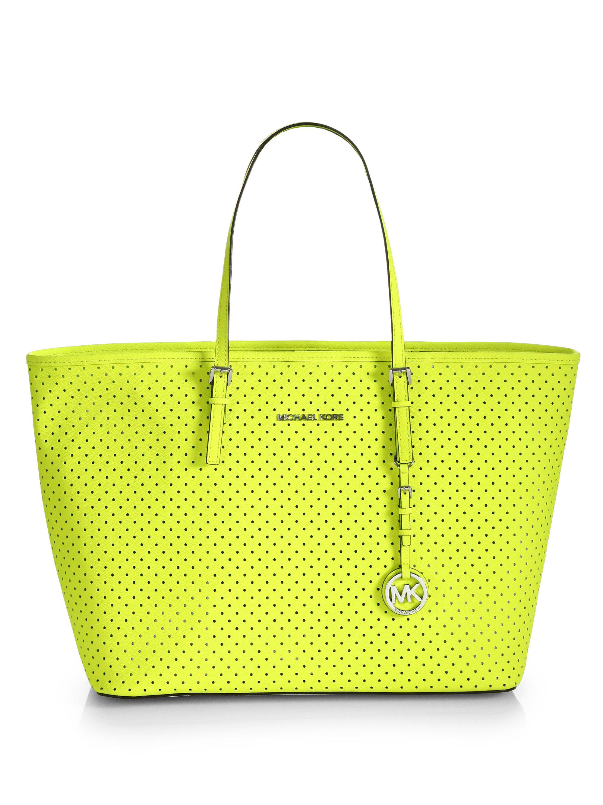 eb5c67b083880a ... sweden lyst michael michael kors medium travel tote bag in yellow 0129b  bd731