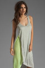Monrow Monrow Asymmetrical Tank Dress in Heatherfizz - Lyst