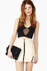 Nasty Gal Mesh Moves Crop Tank - Lyst