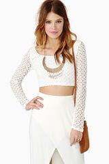 Nasty Gal Baez Crochet Crop Top - Lyst