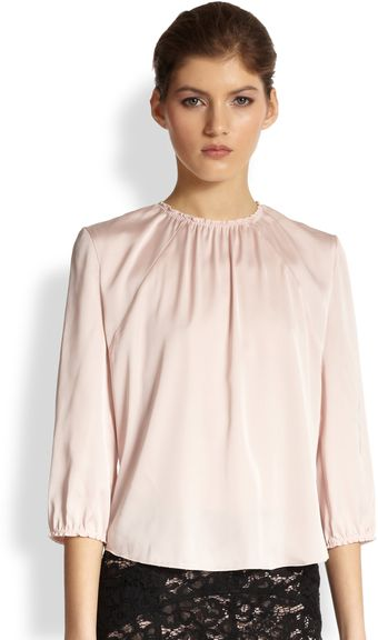 Nina Ricci Gathered Blouse - Lyst