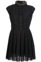 Paco Rabanne Sleeveless Crochet Dress - Lyst