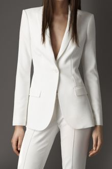 Burberry Tailored Crêpe Jersey Jacket - Lyst