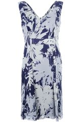 Cacharel Printed Silk Dress - Lyst