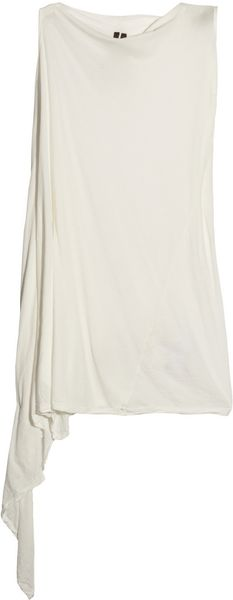 DRKSHDW by Rick Owens Cotton Tunic Dress - Lyst