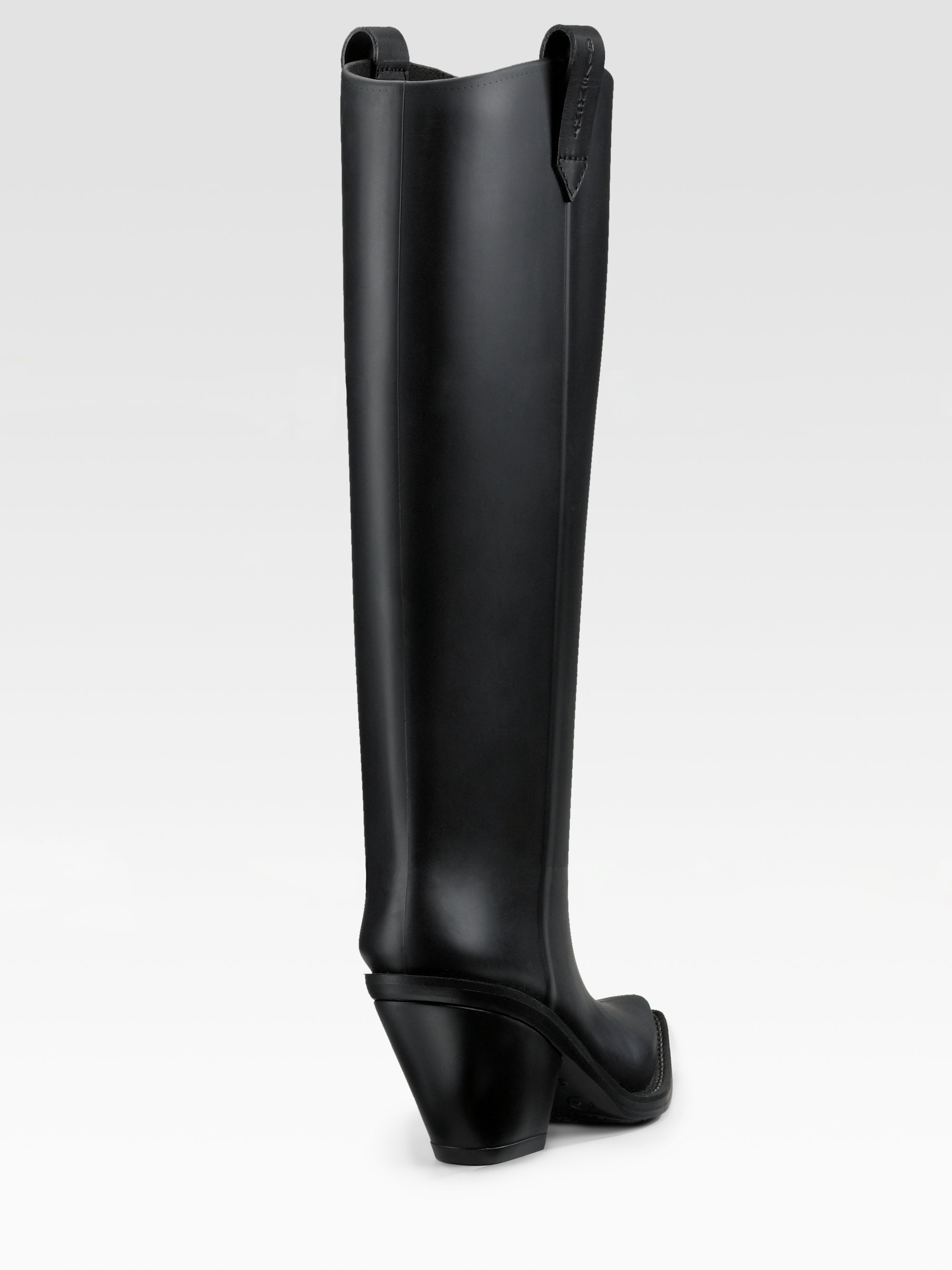 Givenchy Rubber Cowboy Boots in Black | Lyst