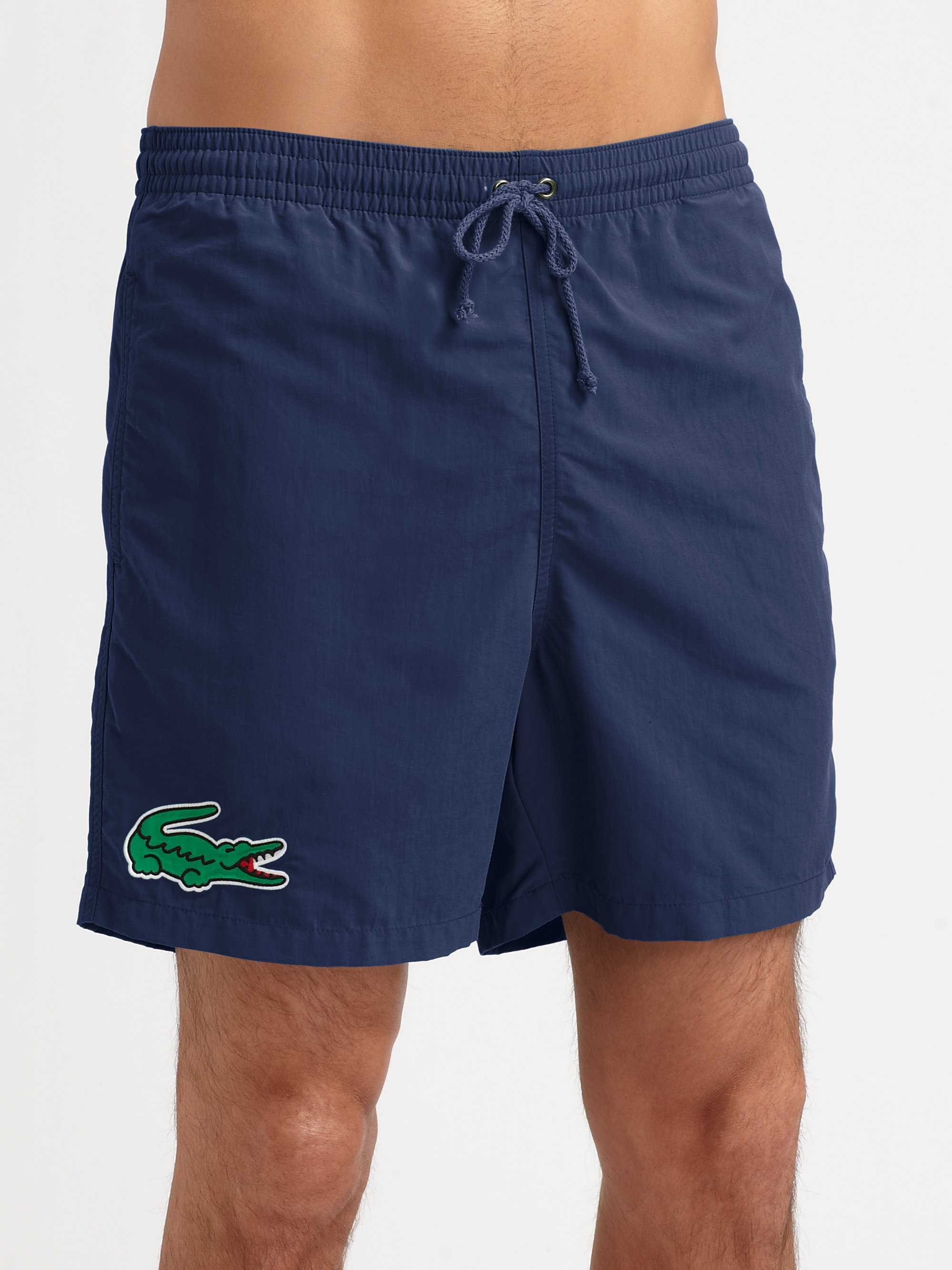 Lyst Lacoste Classic Swim Trunks In Blue For Men