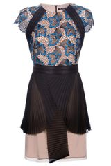 Marios Schwab Short Sleeve Lace Dress - Lyst