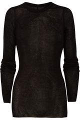 Rick Owens Cotton Jersey Top - Lyst