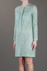 Victoria, Victoria Beckham Floral Crochet Dress in Green (floral) - Lyst