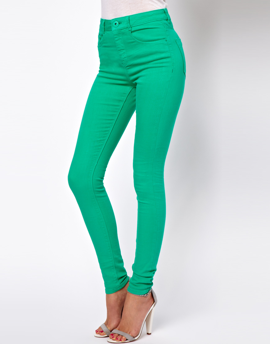 High rise skinny jeans asos