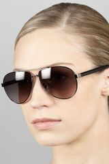 Fendi Aviator Sunglasses - Lyst