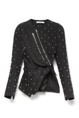 Givenchy Embellished Cotton Jacket with Back Pleats