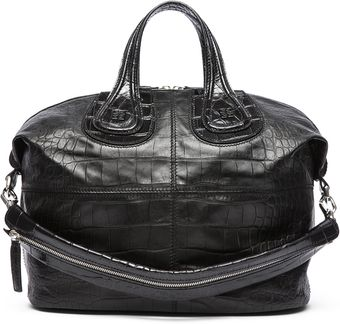 Givenchy Medium Croc Nightingale in Black - Lyst