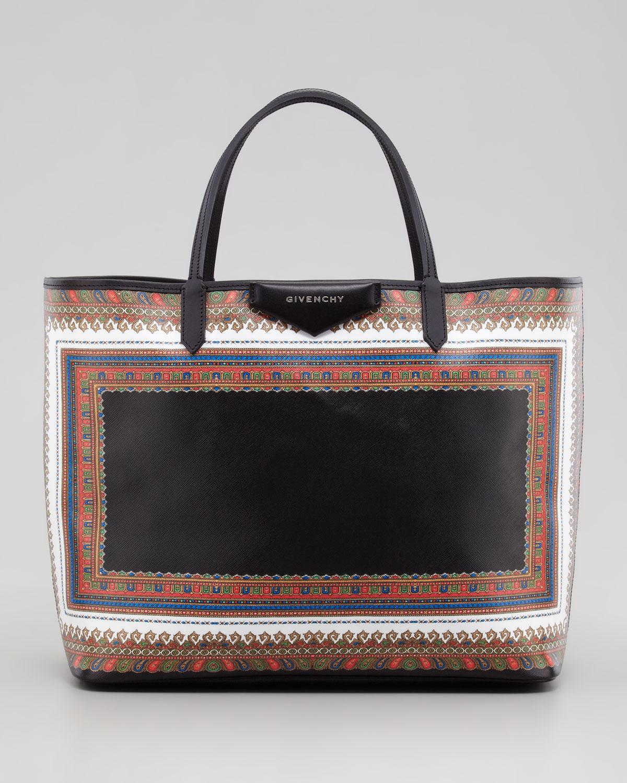 Givenchy Antigona Large Scarfprint Shopper Tote Bag in Black - Lyst d5239263ea