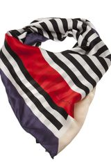 Golden Goose Deluxe Brand Curved Stripes Scarf - Lyst